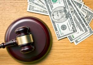 judge gavel and dollars