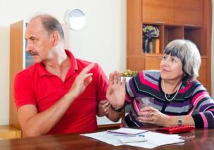 couple having quarrel over   documents