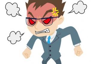 激怒する上司