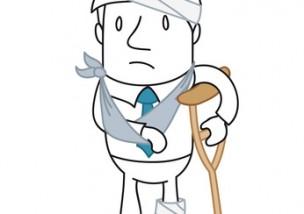 Geschäftsmann, Unfall, bandagiert
