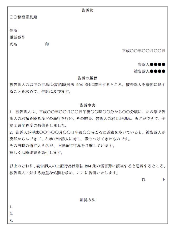 告訴状の書き方の2つのポイント【無料雛形ダウンロード可】