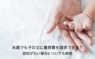 未婚でも子の父に養育費を請求できる?認知がない場合についても解説