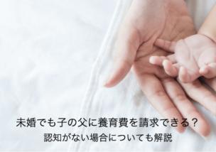 未婚でも養育費を子の父に請求できる?認知がない場合についても解説