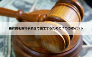 養育費を裁判手続きで請求するための7つのポイント