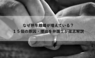 熟年離婚の原因は?熟年離婚の原因やメリット・デメリットを解説